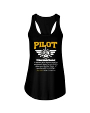 PILOT GIFTS - DEFINITION OF A PILOT Ladies Flowy Tank thumbnail
