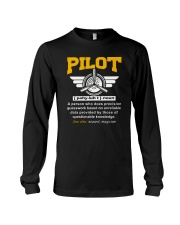 PILOT GIFTS - DEFINITION OF A PILOT Long Sleeve Tee thumbnail