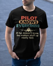 He - A Pilot Knows Everything Classic T-Shirt apparel-classic-tshirt-lifestyle-front-46