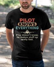 He - A Pilot Knows Everything Classic T-Shirt apparel-classic-tshirt-lifestyle-front-50