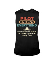 He - A Pilot Knows Everything Sleeveless Tee thumbnail