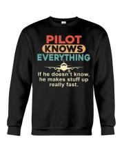 He - A Pilot Knows Everything Crewneck Sweatshirt thumbnail