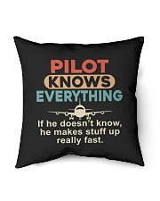 """He - A Pilot Knows Everything Indoor Pillow - 16"""" x 16"""" thumbnail"""