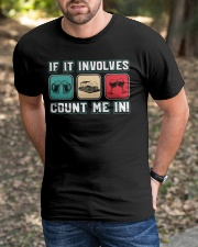 PONTOON BOAT GIFTS - COUNT ME IN Classic T-Shirt apparel-classic-tshirt-lifestyle-front-52