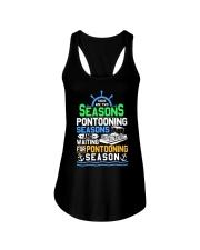 PONTOON BOAT GIFT - PONTOONING SEASONS Ladies Flowy Tank thumbnail