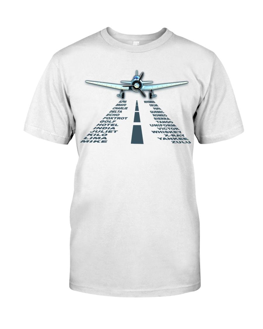PILOT AVIATION GIFT - LANDING PHONETIC ALPHABET Classic T-Shirt