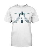 PILOT AVIATION GIFT - LANDING PHONETIC ALPHABET Classic T-Shirt front