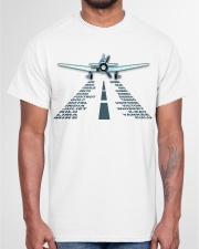 PILOT AVIATION GIFT - LANDING PHONETIC ALPHABET Classic T-Shirt garment-tshirt-unisex-front-03