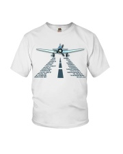 PILOT AVIATION GIFT - LANDING PHONETIC ALPHABET Youth T-Shirt thumbnail