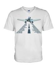 PILOT AVIATION GIFT - LANDING PHONETIC ALPHABET V-Neck T-Shirt thumbnail