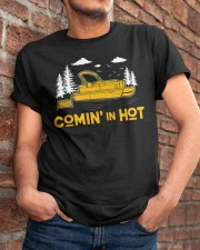 PONTOON BOAT GIFT - COMING IN HOT Classic T-Shirt apparel-classic-tshirt-lifestyle-26