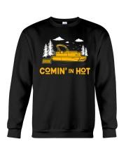 PONTOON BOAT GIFT - COMING IN HOT Crewneck Sweatshirt thumbnail
