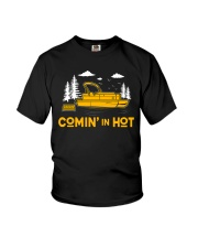 PONTOON BOAT GIFT - COMING IN HOT Youth T-Shirt thumbnail
