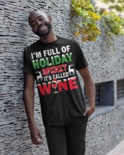 WINE - HOLIDAY SPIRIT Classic T-Shirt apparel-classic-tshirt-lifestyle-front-33