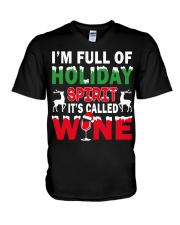 WINE - HOLIDAY SPIRIT V-Neck T-Shirt thumbnail