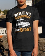PONTOON BOAT GIFT - RULE 1 Classic T-Shirt apparel-classic-tshirt-lifestyle-29