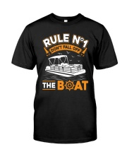 PONTOON BOAT GIFT - RULE 1 Classic T-Shirt front
