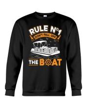PONTOON BOAT GIFT - RULE 1 Crewneck Sweatshirt thumbnail