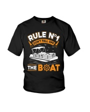 PONTOON BOAT GIFT - RULE 1 Youth T-Shirt thumbnail