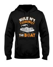 PONTOON BOAT GIFT - RULE 1 Hooded Sweatshirt thumbnail
