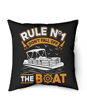 "PONTOON BOAT GIFT - RULE 1 Indoor Pillow - 16"" x 16"" thumbnail"