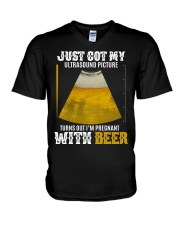 GOT MY BEER BABY V-Neck T-Shirt thumbnail