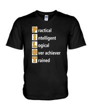 AVIATION PILOT GIFT - PHONETIC ALPHABET V-Neck T-Shirt thumbnail