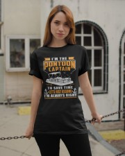 PONTOON BOAT GIFT - TO SAVE THE TIME Classic T-Shirt apparel-classic-tshirt-lifestyle-19