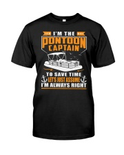 PONTOON BOAT GIFT - TO SAVE THE TIME Classic T-Shirt front