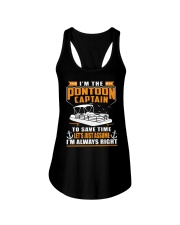 PONTOON BOAT GIFT - TO SAVE THE TIME Ladies Flowy Tank thumbnail