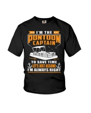 PONTOON BOAT GIFT - TO SAVE THE TIME Youth T-Shirt thumbnail