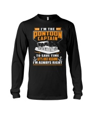PONTOON BOAT GIFT - TO SAVE THE TIME Long Sleeve Tee thumbnail