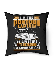 """PONTOON BOAT GIFT - TO SAVE THE TIME Indoor Pillow - 16"""" x 16"""" thumbnail"""