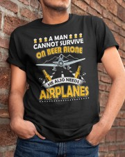 PILOT AVIATION GIFT - BEER AND AIRPLANES Classic T-Shirt apparel-classic-tshirt-lifestyle-26