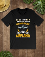 PILOT AVIATION GIFT - BEER AND AIRPLANES Classic T-Shirt lifestyle-mens-crewneck-front-18