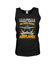 PILOT AVIATION GIFT - BEER AND AIRPLANES Unisex Tank thumbnail