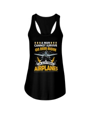 PILOT AVIATION GIFT - BEER AND AIRPLANES Ladies Flowy Tank thumbnail