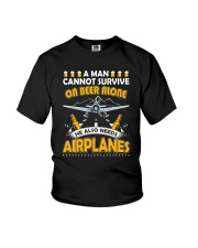 PILOT AVIATION GIFT - BEER AND AIRPLANES Youth T-Shirt thumbnail