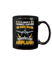 PILOT AVIATION GIFT - BEER AND AIRPLANES Mug tile