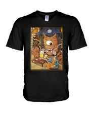 CRAFT BEER LOVER -  JAPAN OLD STYLE V-Neck T-Shirt thumbnail