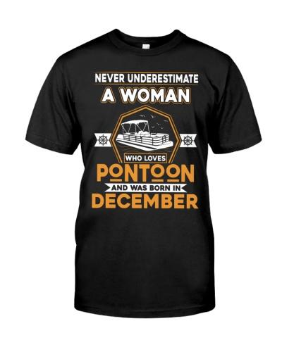 PONTOON BOAT GIFT - DECMBER PONTOON WOMAN