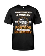 PONTOON BOAT GIFT - DECEMBER PONTOON WOMAN Classic T-Shirt front