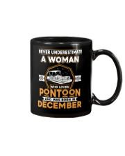 PONTOON BOAT GIFT - DECEMBER PONTOON WOMAN Mug thumbnail