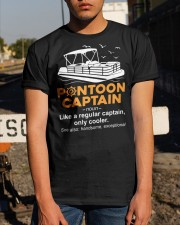 PONTOON BOAT GIFT - PONTOON CAPTAIN DEFINITION Classic T-Shirt apparel-classic-tshirt-lifestyle-29