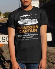 Pontoon Boat Gift - Pontoon Captain Definition Classic T-Shirt apparel-classic-tshirt-lifestyle-29