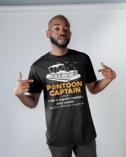Pontoon Boat Gift - Pontoon Captain Definition Classic T-Shirt apparel-classic-tshirt-lifestyle-front-32