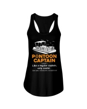 PONTOON BOAT GIFT - PONTOON CAPTAIN DEFINITION Ladies Flowy Tank thumbnail