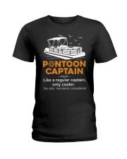 PONTOON BOAT GIFT - PONTOON CAPTAIN DEFINITION Ladies T-Shirt thumbnail