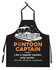 PONTOON BOAT GIFT - PONTOON CAPTAIN DEFINITION Apron thumbnail