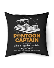 "PONTOON BOAT GIFT - PONTOON CAPTAIN DEFINITION Indoor Pillow - 16"" x 16"" thumbnail"